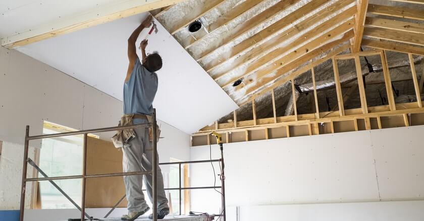 Professional drywall hanging and repair in aurora